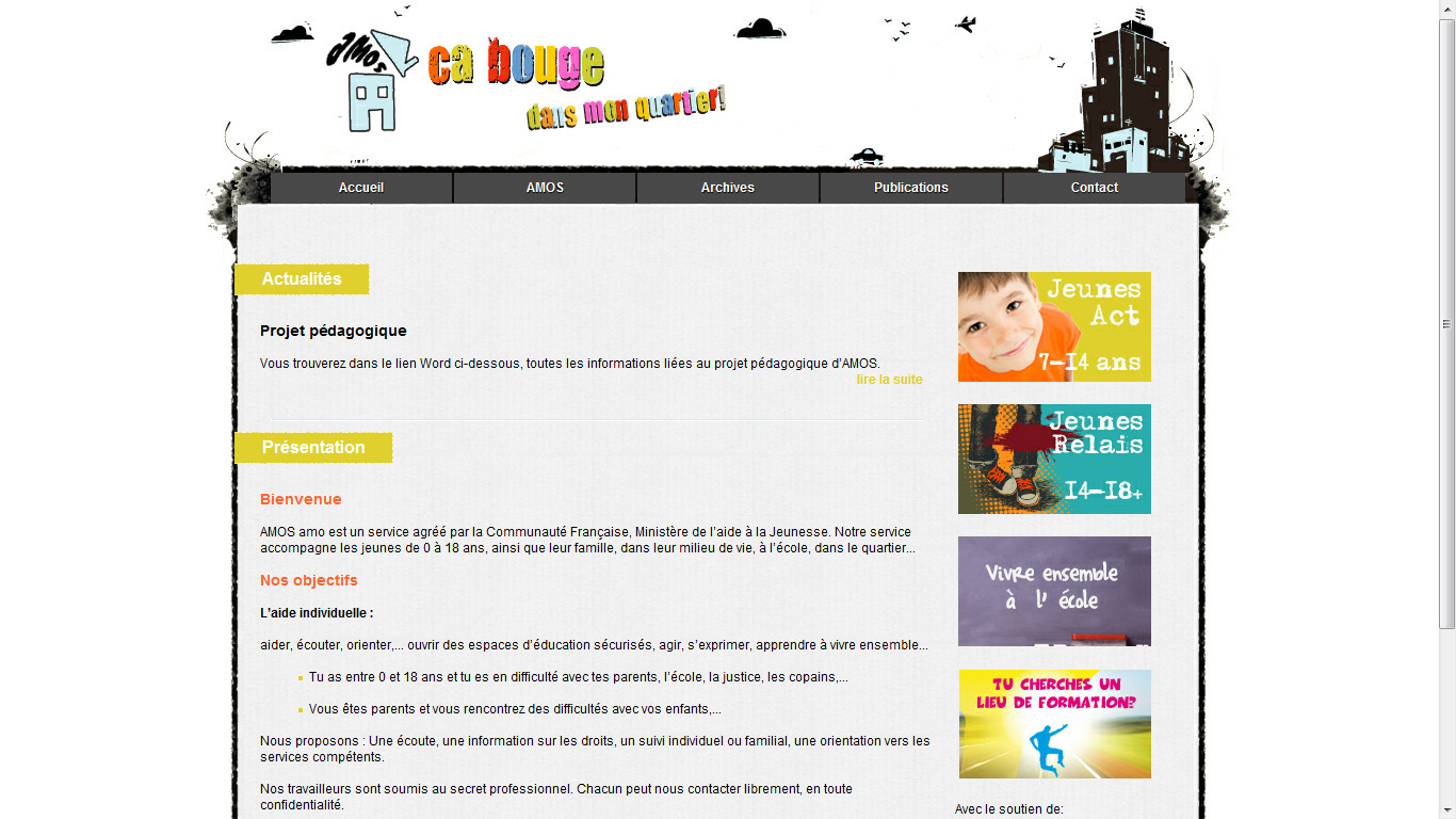 capture d écran du site AMOS