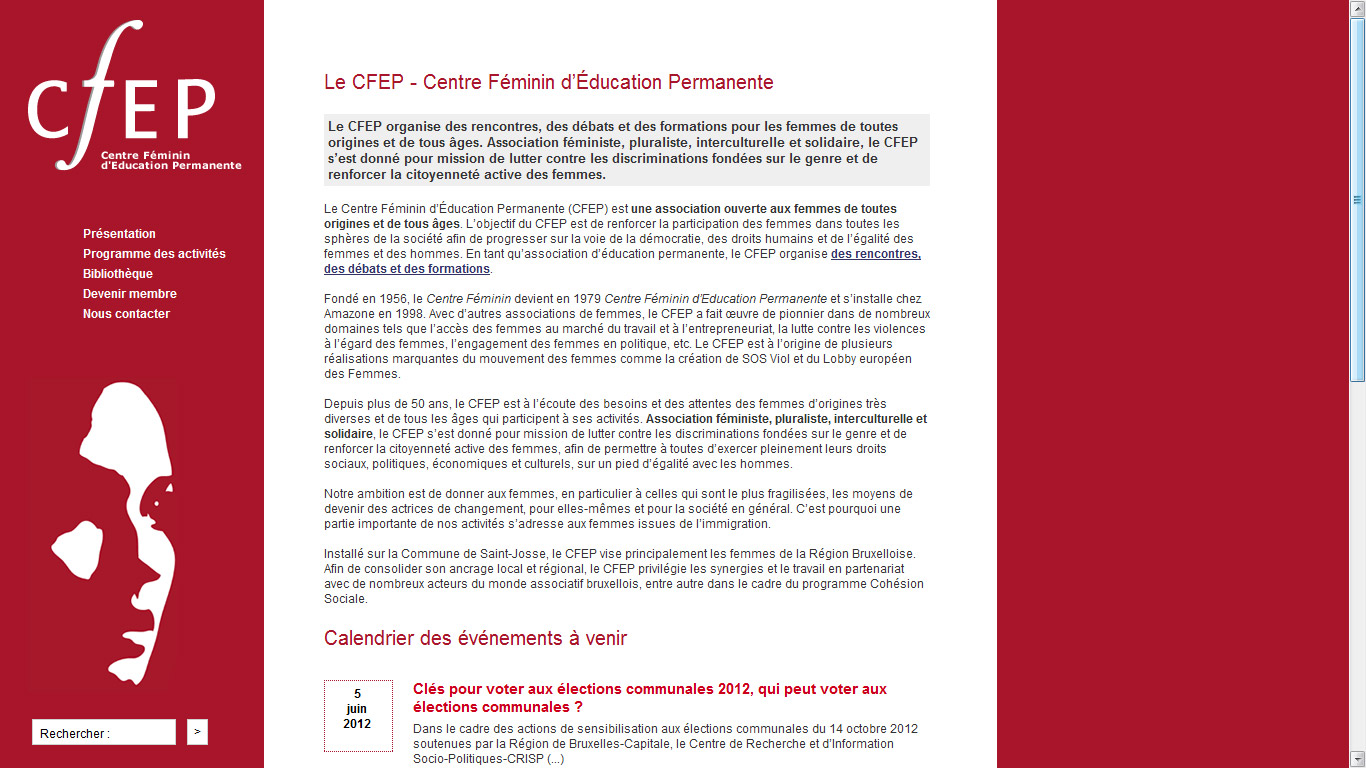 capture d écran du site CFEP