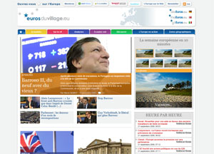capture d écran du site Euros du village