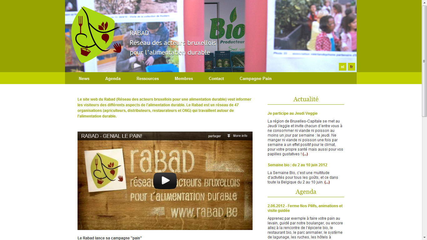 capture d écran du site RABAD